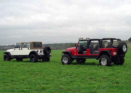 stretch jeeps 4 door and   pickup