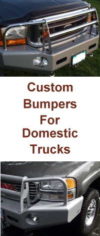 custom bumpers for domestic pickup trucks