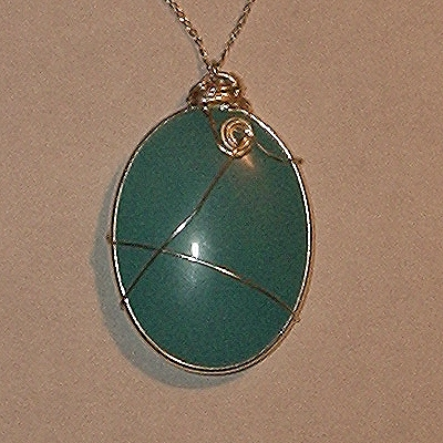 amazonite wire wrapped