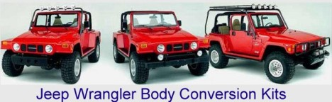 jeep wrangler body conversion kits