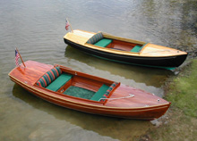 Electric wooden boats