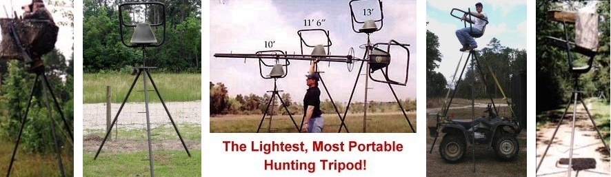The lightest, most portable hunting                         tripod ever!