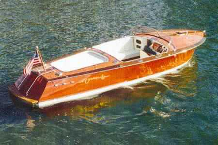 custom wooden sport boat