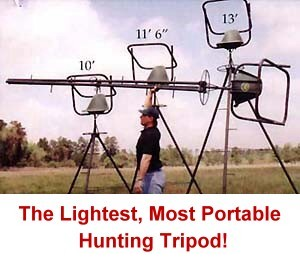 The lightest most portable hunting tripod ever!