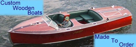 classic wooden runabouts, extended cockpit runabouts, rear engine runabouts, utility runabouts, sport boats, racing runabouts, launches and speedboats - custom made to order